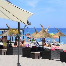 Restaurante de la playa Cristal en Miami Playa
